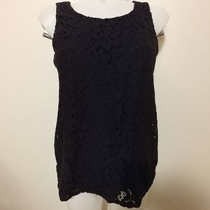 Embroidered lacey dress top with zip up back